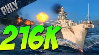 MONSTER GAME - Battleships Bismarck 216K Game (World Of Warships)