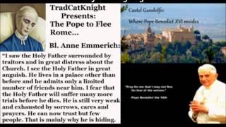Pope to Flee Rome Watch: Benedict XVI Receives the Three Laureates