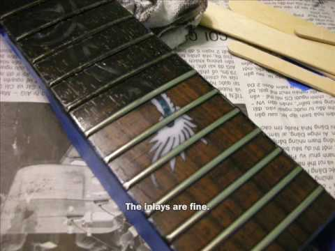 DIY GUITAR - Part 7: Staining the Fretboard