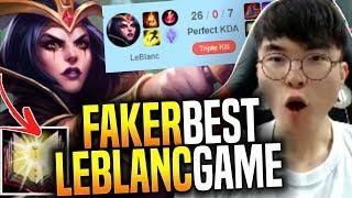is this the Best Faker Leblanc's Game? - SKT T1 Faker Picks Leblanc Mid! | SKT T1 Replays