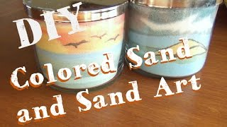 Sand Art Jars ♥  How To Make Colored Sand and Sand Art