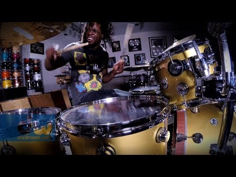 Thomas Pridgen plays DW Drums (100% GoPro)