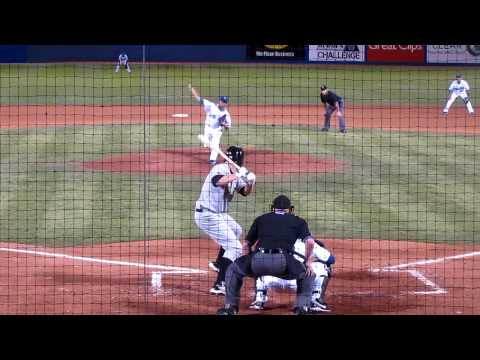 AAA Salt Lake Bee's Mark Trumbo Basehit vs Las Vegas 51's April 9th 2010 Video