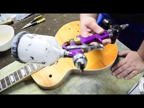 Slash AFD DIY Les Paul Kit - (Part 4: Sanding Sealer,Clear Coat / Buffing)
