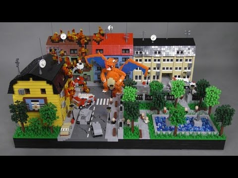 LEGO MOC - Makieta - Charizard vs. Miasto Odcinek 3