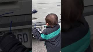 2 Years Old Baby with Car Brands..