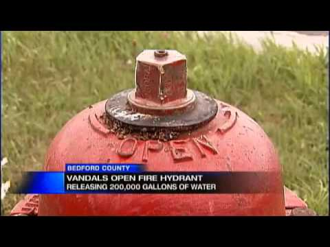 Vandals open fire hydrant, releasing 200,000 gallons of water