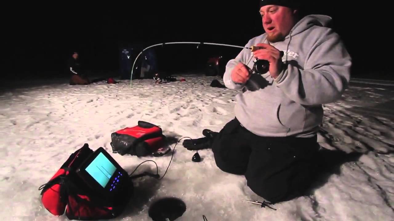 Ice Fishing Bluegill Ice Fishing Night Time