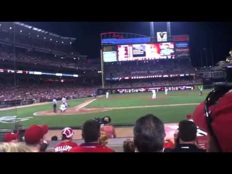 Albert Pujols home run off Aroldis Chapman 07/15/2011
