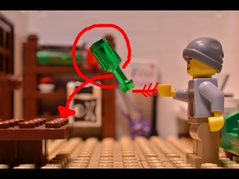 Bottle Flip in LEGO