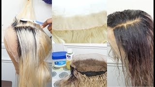 NO STAINS!! NO BLEEDING!! | DYE YOUR FRONTAL ANY COLOR + TINT YOUR LACE | PART 2 | FT AMOUR WIGS