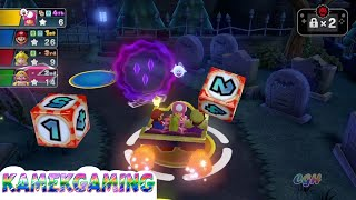 Mario Party 10 💚 Mario  Party Mode #25 Gameplay Haunted Trail