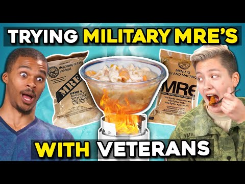 Military Members Eat Military Meals MREs With Civilians  People Vs. Food