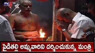 Sujay Krishna Ranga Rao Offers Special Prayers At Pydithalli Ammavari Temple