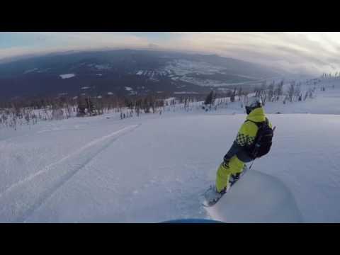 Спуск с горы Мустаг на сноуборде.Шерегеш