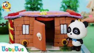 奇奇快來蓋房子,恐怖的大鱷魚來了| 寶寶玩具 | 兒童玩具 | 玩具巴士