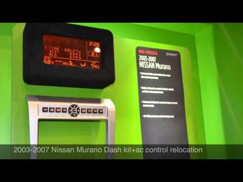 2003-2007 Nissan Murano Radio dash kit Al & Ed's Autosound Los Angeles.CA