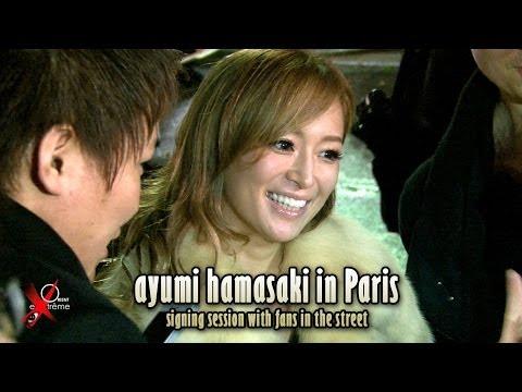 ayumi hamasaki in Paris 浜崎 あゆみ signing session at...