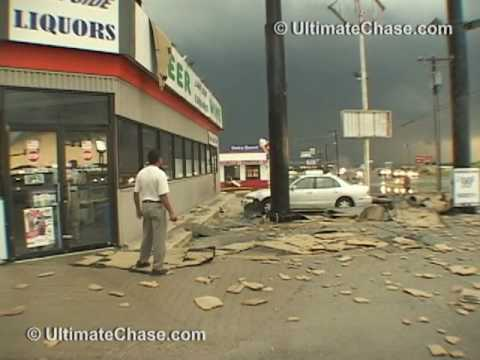 Extreme Wind Video - Derecho Downburst in Hudson Oaks, Texas