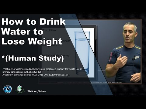 When to Drink Water to Lose Weight (Study)