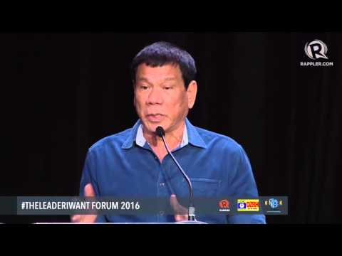 WATCH: Rodrigo Duterte's speech at the #TheLeaderIWant Forum
