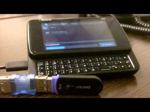 Nokia N900 + USB Flash Drive: copy 1.46 GB movie