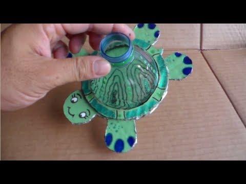 Faire une superbe tortue en recyclage youtube - Activite manuelle recyclage ...