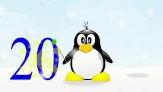 Cartoon for kids: lean to count from 1 to 20 with this little penguin!
