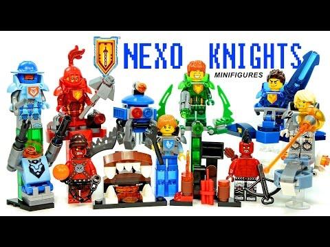 Nexo Knights Ultimate Power LEGO KnockOff Minifigures Set 1 W/ Clay Macy Aaron & Robin