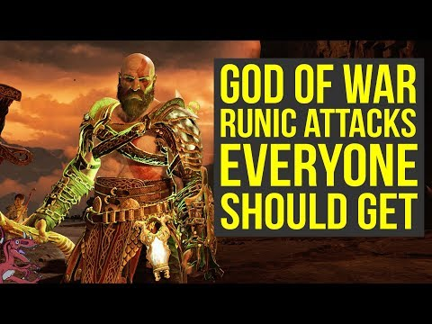 God of War Best Gear (Spoilers) - Amazing Runic Attacks EVERYONE SHOULD GET (God of War 4 Best Gear)