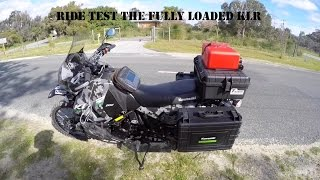 Testing out the fully packed KLR 650 for handling