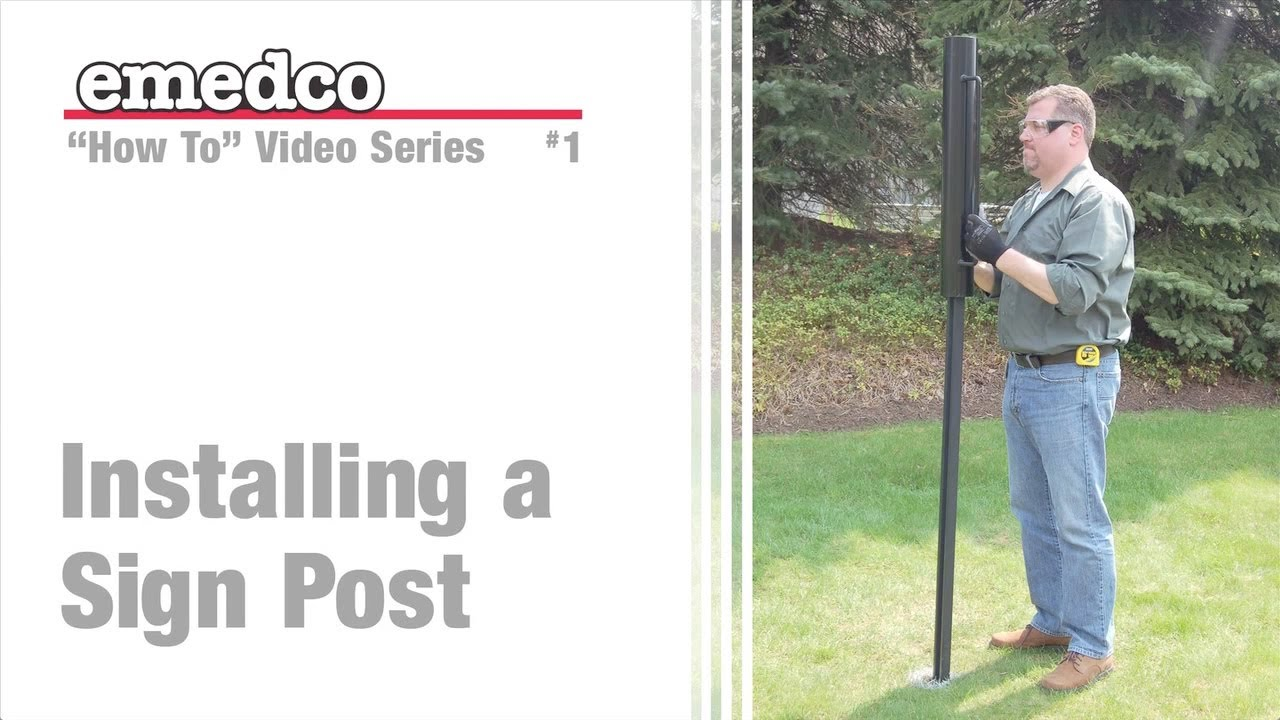 How To Install A U Channel Sign Post Emedco Youtube