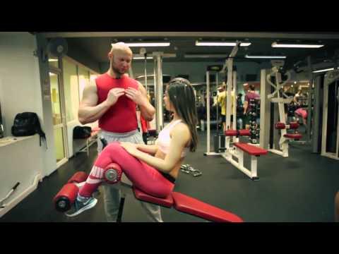 Тренировка мышц в зале - Тренировка мышц в зале. Первые тренировки для девушек в спортзале. Ч2
