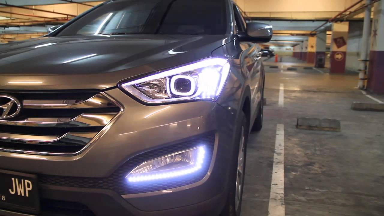 Full Led Headlight And Foglight All New Hyundai Santa Fe