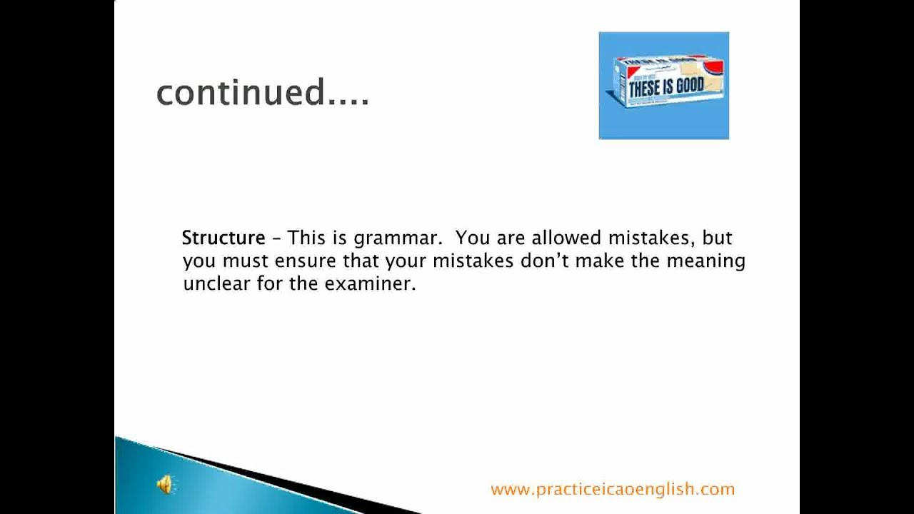 Levels English Test Icao English Test Questions
