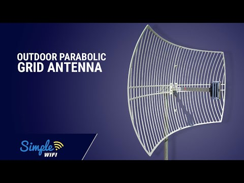 24dBi Outdoor Parabolic Grid Antenna - Long Range Booster by SimpleWiFi