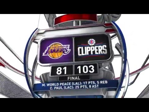 Los Angeles Lakers vs Los Angeles Clippers - April 5, 2016