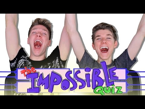 The IMPOSSIBLE QUIZ Challenge (Fail) Sibling Tag | Collins Key vs Devan Key | quiz