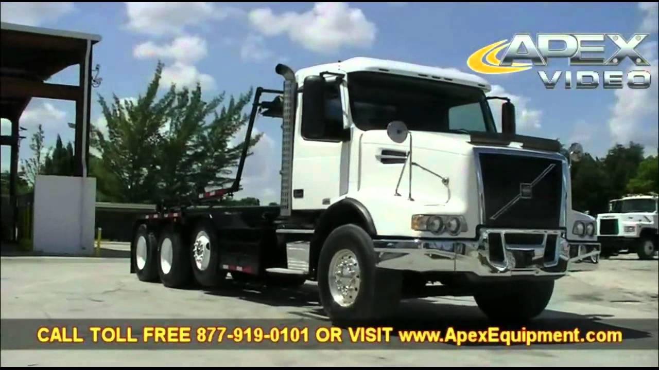 Volvo Vhd Tri Axle Roll Off Trash Truck Youtube
