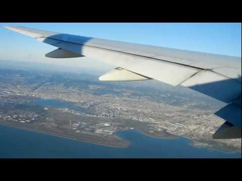Japan Airline JL002 boeing 777 landing at San Francisco International Airport