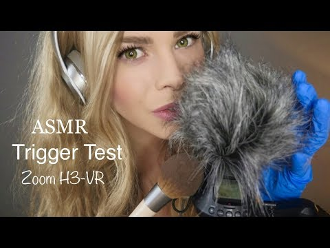 ASMR NEW MIC TRIGGER TEST ~ ZOOM H3-VR ~ CAN IT GIVE YOU TINGLES?