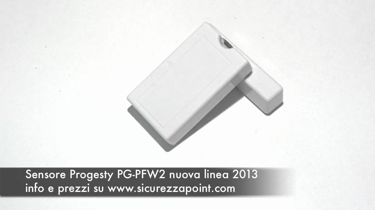 Impianto allarme casa senza fili sensore porta pfw2 - Impianto allarme casa prezzi ...