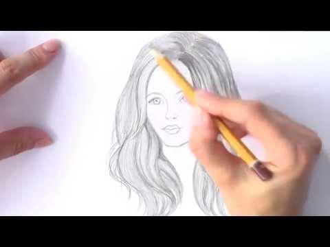 Видео как нарисовать девушку карандашом поэтапно