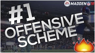 #1 OFFENSIVE MADDEN 18 SCHEME THIS YEAR! BEATS EVERY COVERAGE! 1 PLAY TOUCHDOWNS! | Madden 18