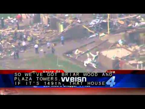 Tornado Damage Coverage, Moore Oklahoma May 20, 2013 - KFOR Coverage