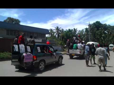 Election Rally Solomon Islands 2014