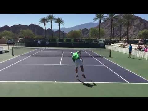 David Ferrer Pablo Carreno Busta Indian Wells BNP Paribas Open 2015 3/10/2015 Practice