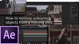 Answer to Question for  After Effects: How to remove unwanted objects from a moving shot.