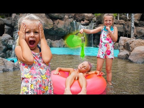 SISTERS SLIME PRANK ON A BOY AT A WATERPARK! thumbnail