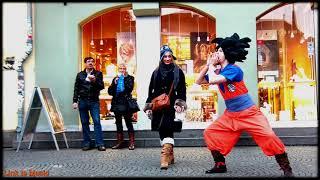 ?Anime Pranks?Son Goku In Public || DBZ, Spirit Bomb, Kamehameha